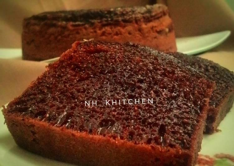 cara buat Bolu Sarang Semut (Karamel) Kukus - Sajian Dapur Bunda