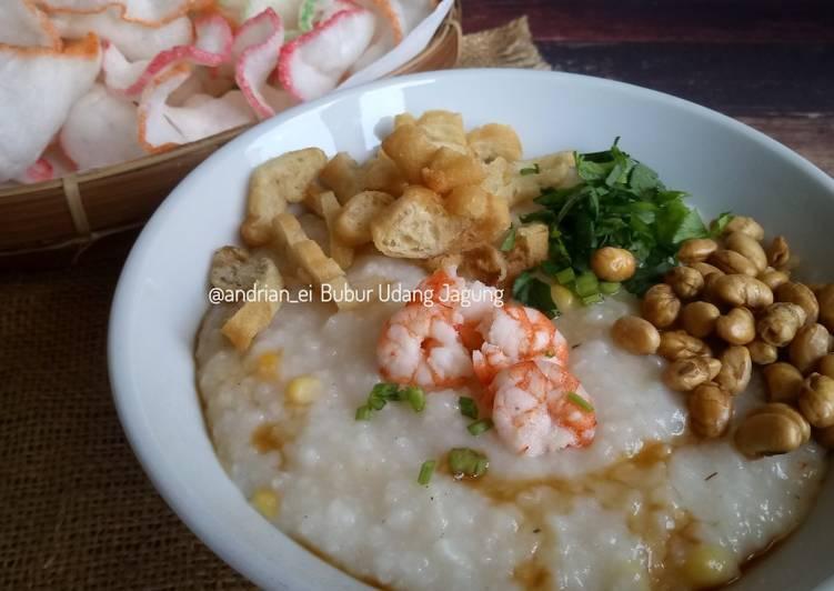 Bubur Udang Jagung (Dari Nasi Sisa)