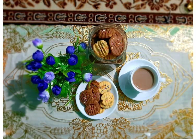 Cookies kacang coklat