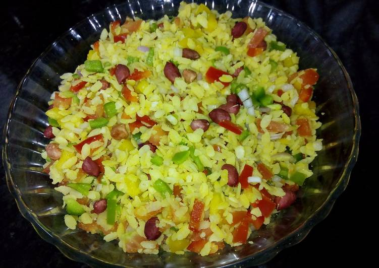How to Prepare Any-night-of-the-week Vegetable Poha/ Vegetable Flattened Rice/ Instant