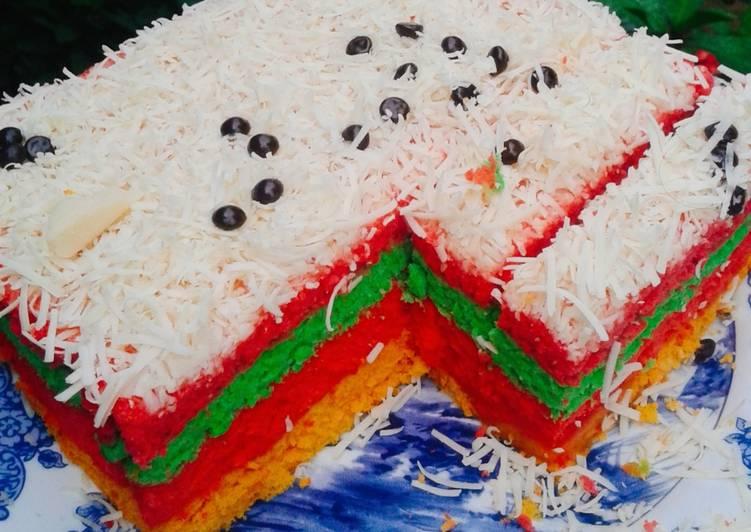 Bagaimana Membuat Bolu Kukus Rainbow 31, Sempurna