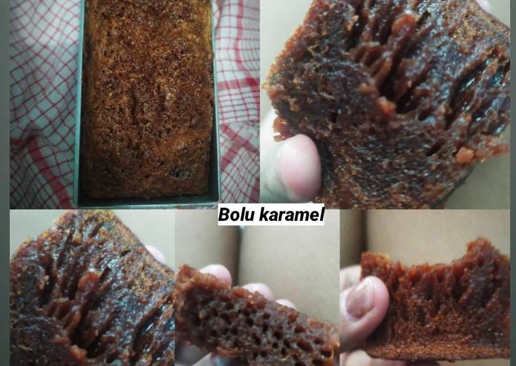 resep menyajikan Bolu Karamel / sarang semut - Sajian Dapur Bunda
