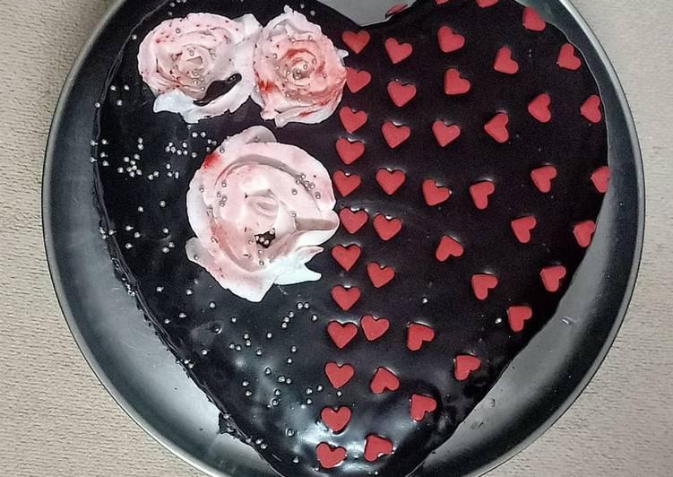 Chocolate ganache cake# vday