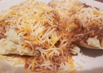 How to Recipe Yummy Chili cheese stuffed potatoe