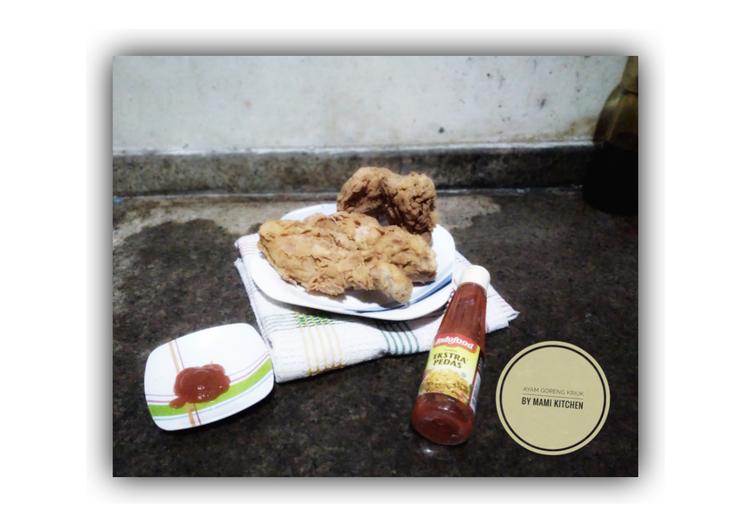 Cara Mempersiapkan Resep Mantab Dari Ayam goreng kriuk