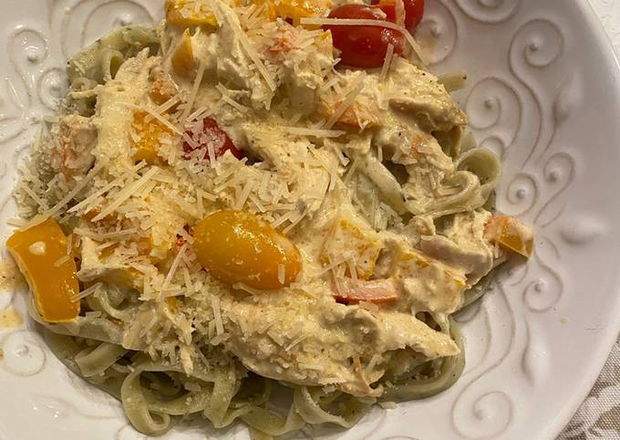 Easiest Way to Cook Yummy Spiced Cajun Chicken Pasta