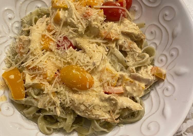 Recipe of Quick Spiced Cajun Chicken Pasta