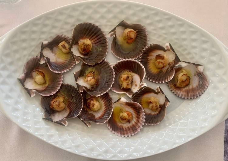Recipe of Most Popular Grilled Zamburiñas (small scallops)
