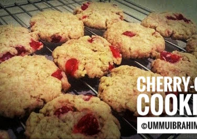 Eggless Cherry-Oat Cookies