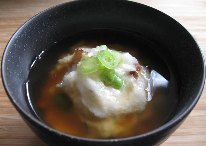 Steamed Savoury Turnip Meringue & Fish