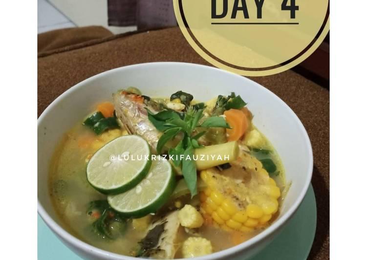 Ikan kuah asam pedas & sayur (Edisi diet)