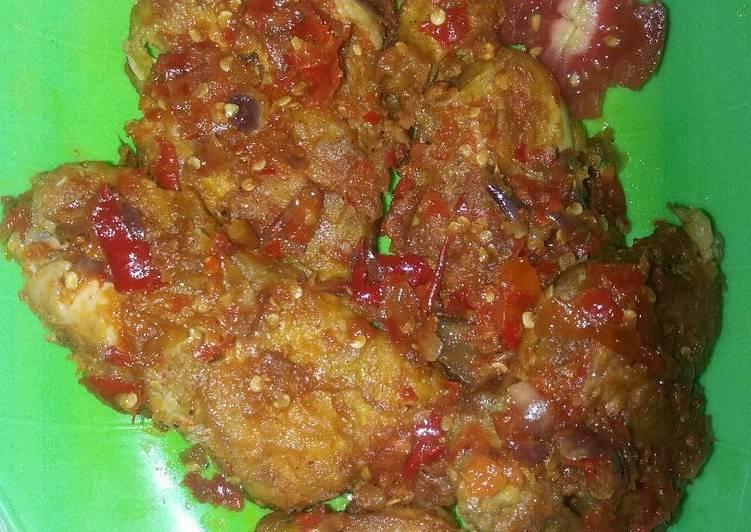 Ayam geprek kriuk😍