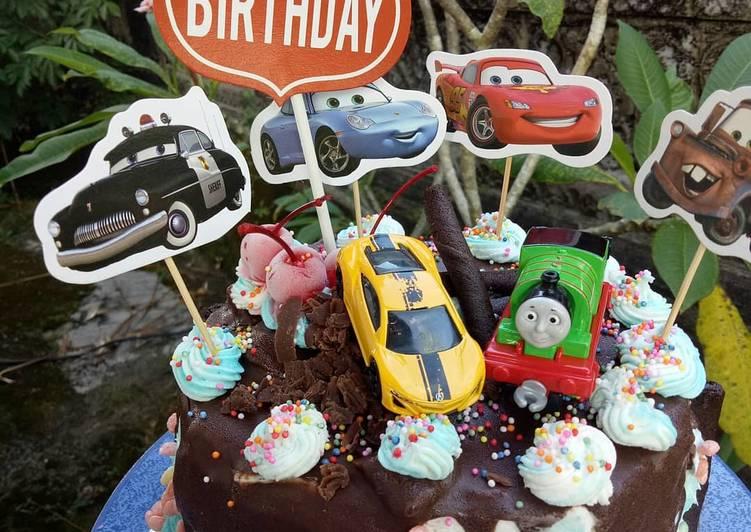 Simple Bday Cake (Base Sponge Cake) - cookandrecipe.com