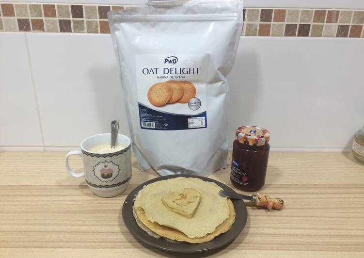 Tortitas 🥞 de avena sabor a galleta María