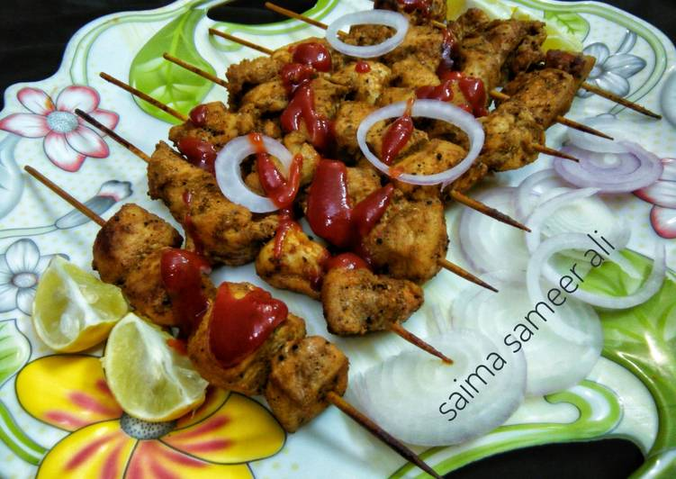 Oven baked Boneless chicken tikka