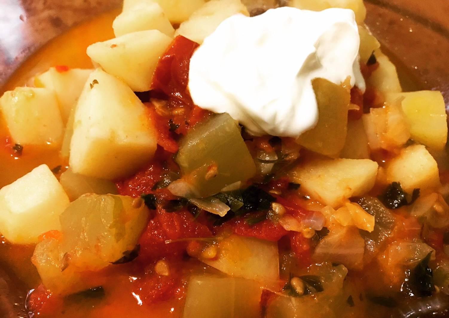 Пошаговый рецепт с фото овощного рагу