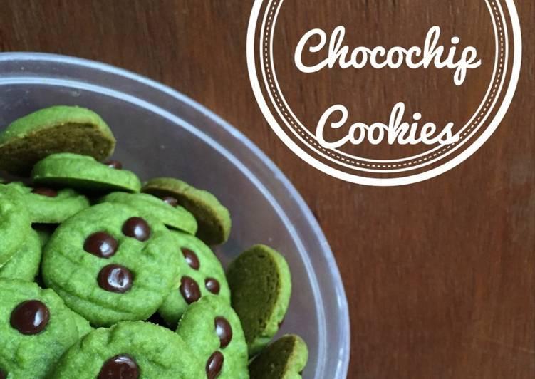 Matcha Chocochip Cookies