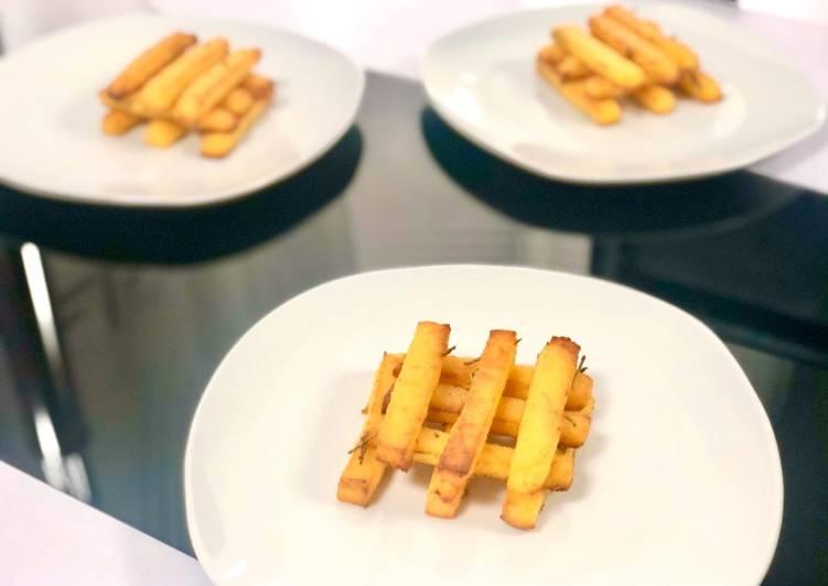 Frites de polenta au emmental