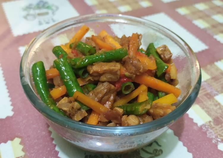 Resep Tumis sayur kacang panjang wortel tempe Yang Populer Pasti Sedap