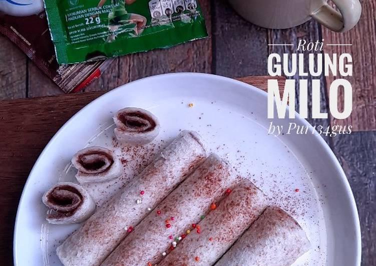 Roti Gulung Milo