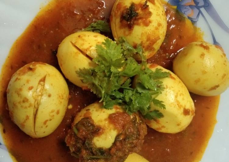 Steps to Make Super Quick Homemade Simple Egg Curry with Tomato Gravy