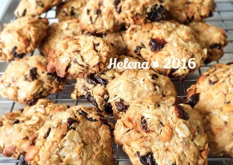 Resep Oatmeal Cookies Sehat JTT (no mixer, terigu, butter) oleh