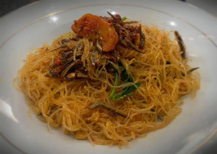 Resep Bihun goreng tabur teri kentang Paling Mudah