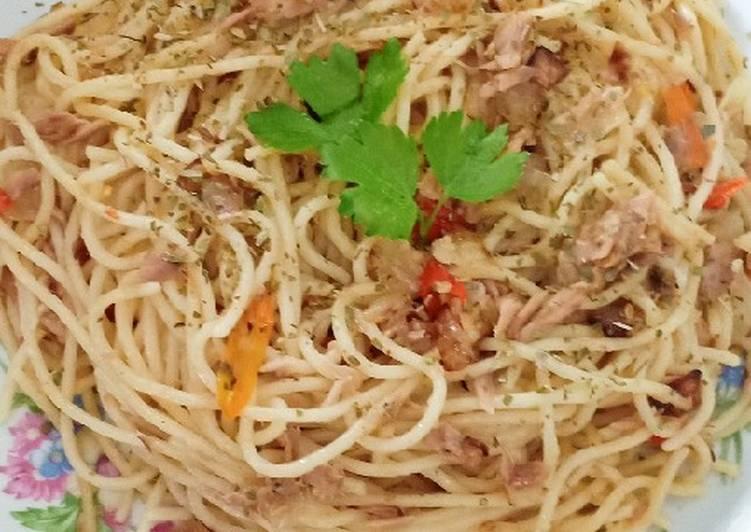 Spaghetti Tuna Pedas