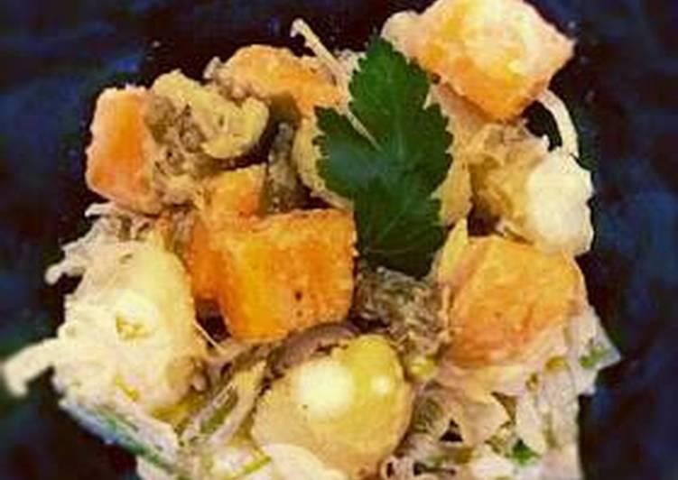 Potato and sweet potato salad
