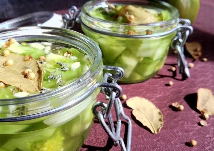 La Recette Pas à Pas Pickles de tomate verte