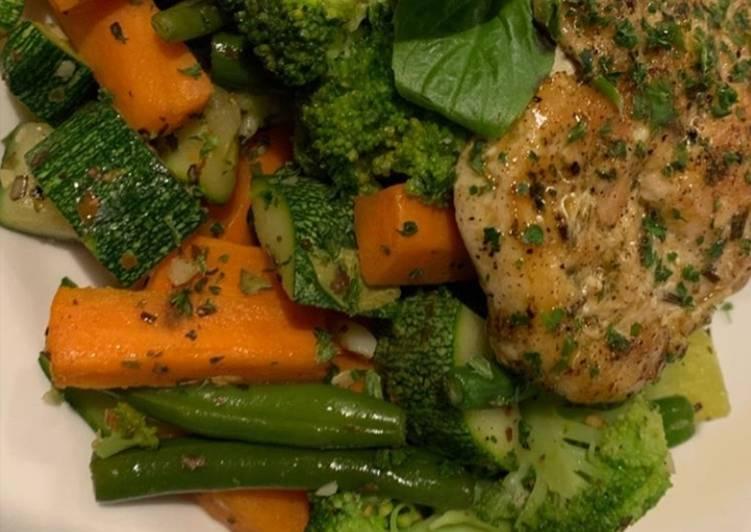 Green veg and Chicken salad