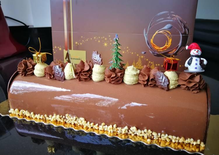 Les Meilleures Recettes de Bûche trois chocolats #dessertsdefete
