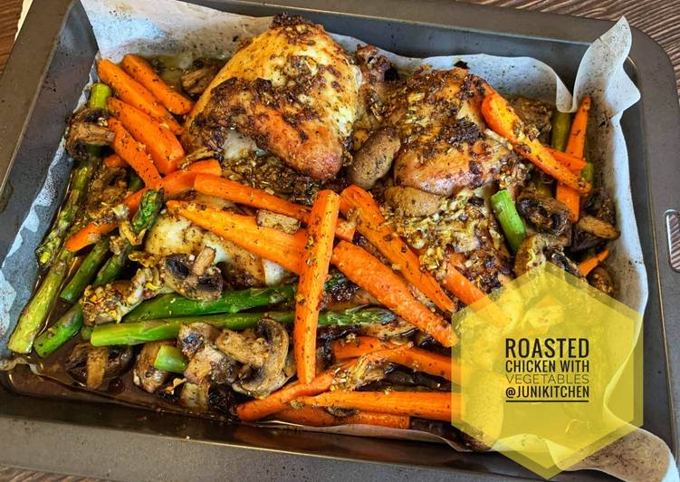 Roasted Chicken with Vegetables - cookandrecipe.com