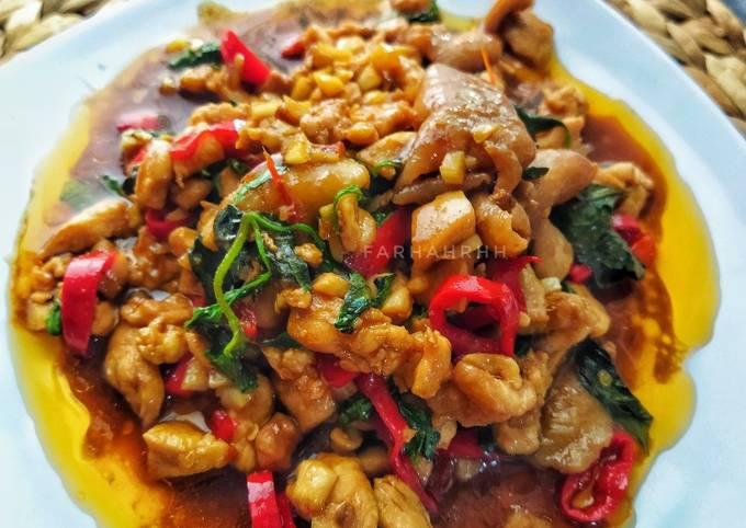 Pad Kra Pao ผัดกระเพ  Thai Chicken Basil 🇨🇷 - projectfootsteps.org