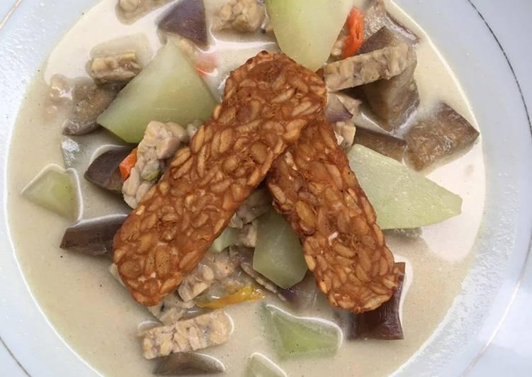 Sayur Lodeh Labu Siam Terong + Tempe