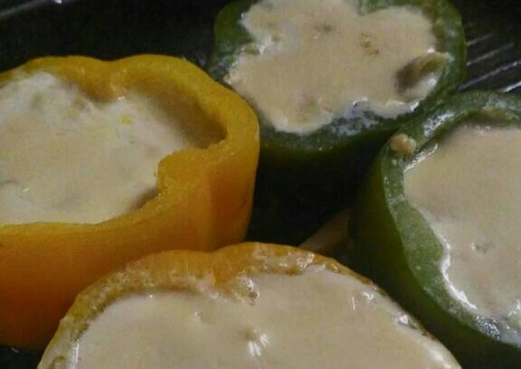 Paprika isi AyamKeju - super yummy n easy ala teflon
