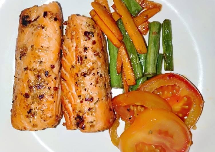 Pan Fried Salmon with Italian Herbs