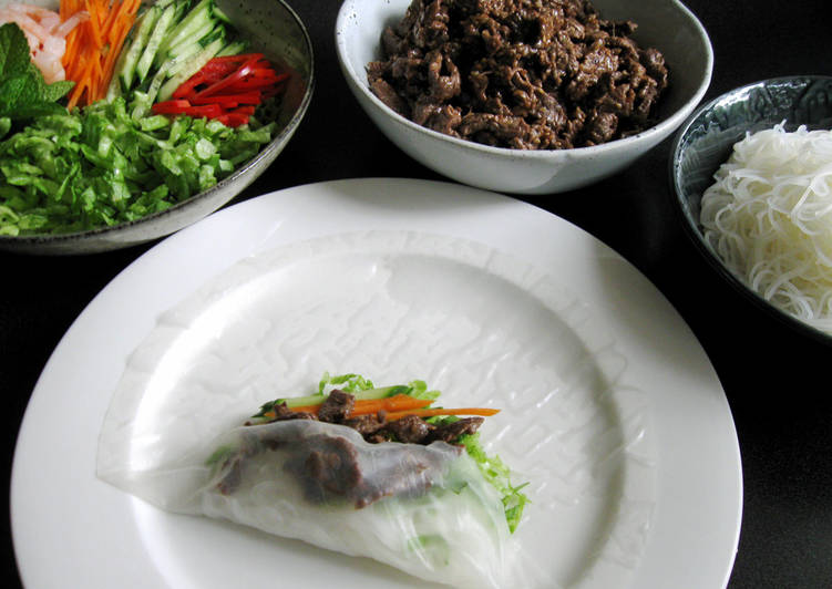 Temaki (Self-Serve) Rice Paper Rolls