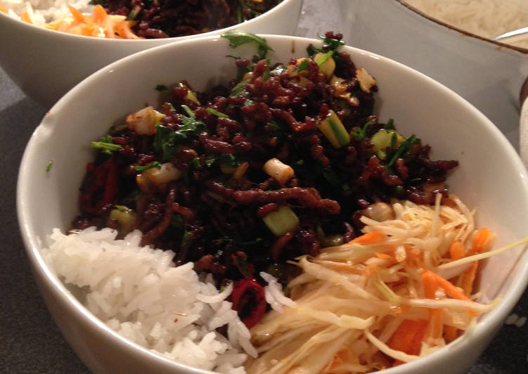 Crispy Asian Beef with a Crunchy Slaw