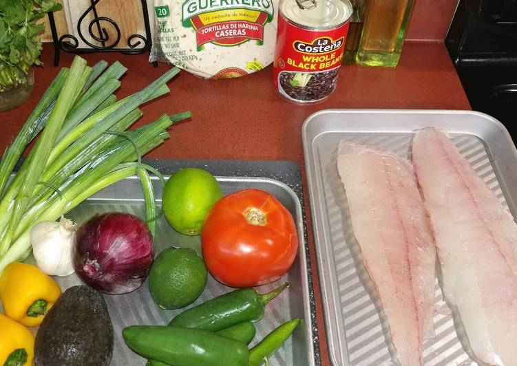 Recipe: Appetizing Easy Baked Fish Tacos