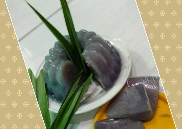 Pudding ubi ungu