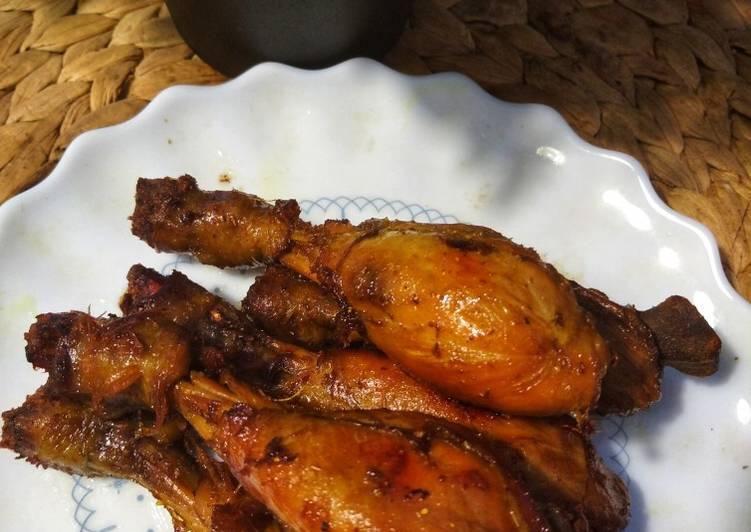 Bacem paha ayam tanpa kulit