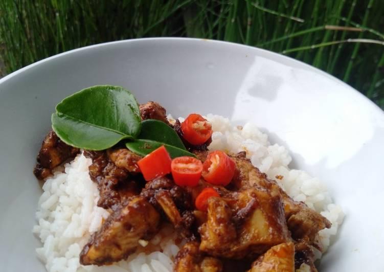 Rice Bowl Rendang Ayam