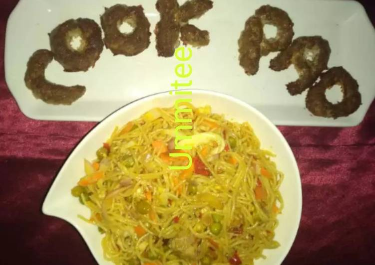 Award-winning Ummitee's noodles with baked minced meat