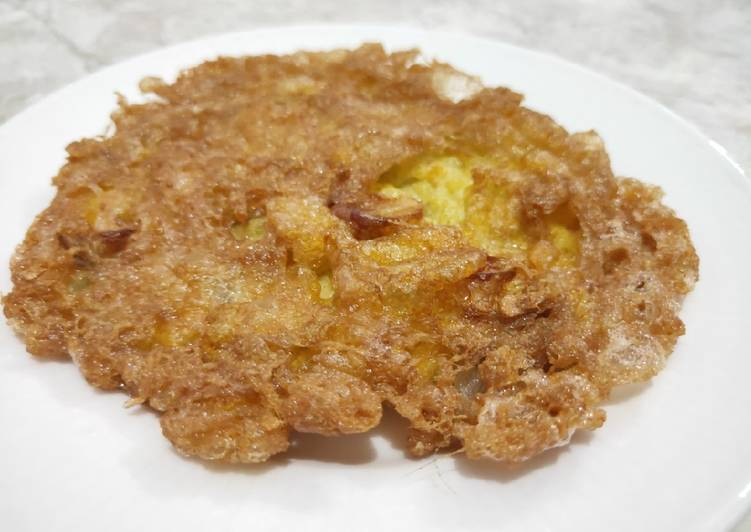 Talua barendo crispy ala RM Padang