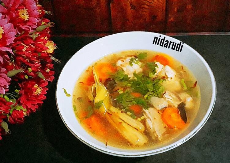 Resep Sup Ayam ala Pak Min Klaten, Enak