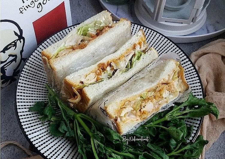 Sandwich Leftover Ayam KFC - velavinkabakery.com