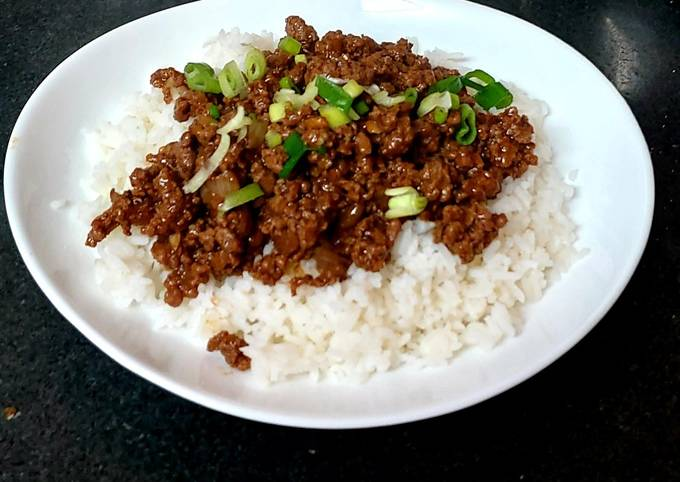 Chinese Minced Beef and Rice.🥰#Mainmeal