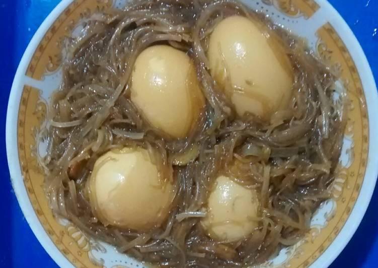 Resep Semur telur bihun Yang Gampang Bikin Nagih