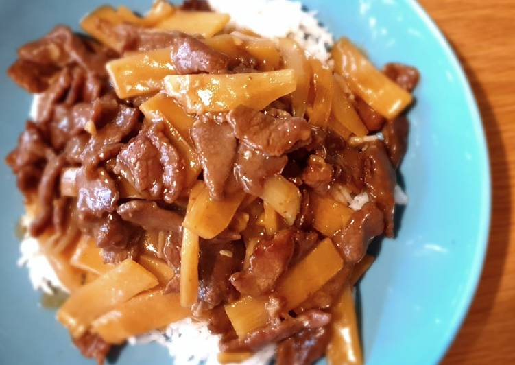 25 Minute Recipe of Favorite Bamboo beef